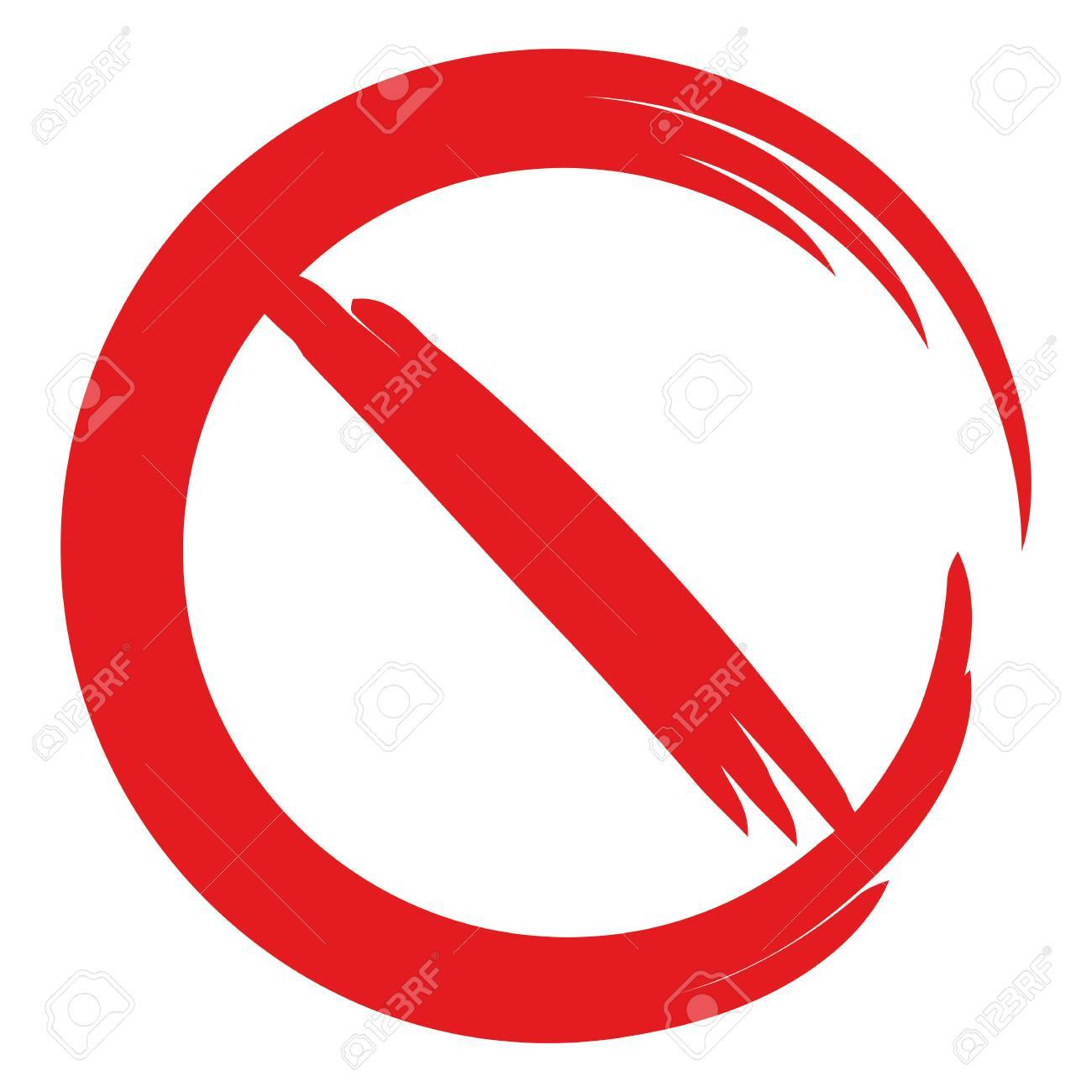 Red ban sign, stop sign.