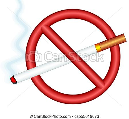 Cigarette ban sign.