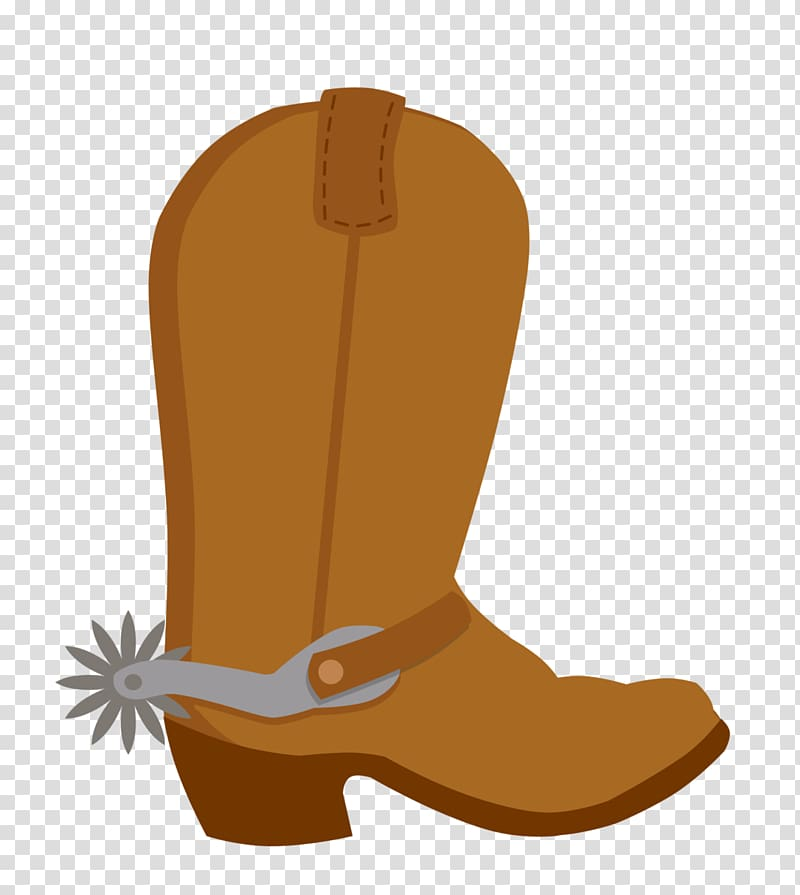 Unpaired brown cowboy boot illustration, American frontier.