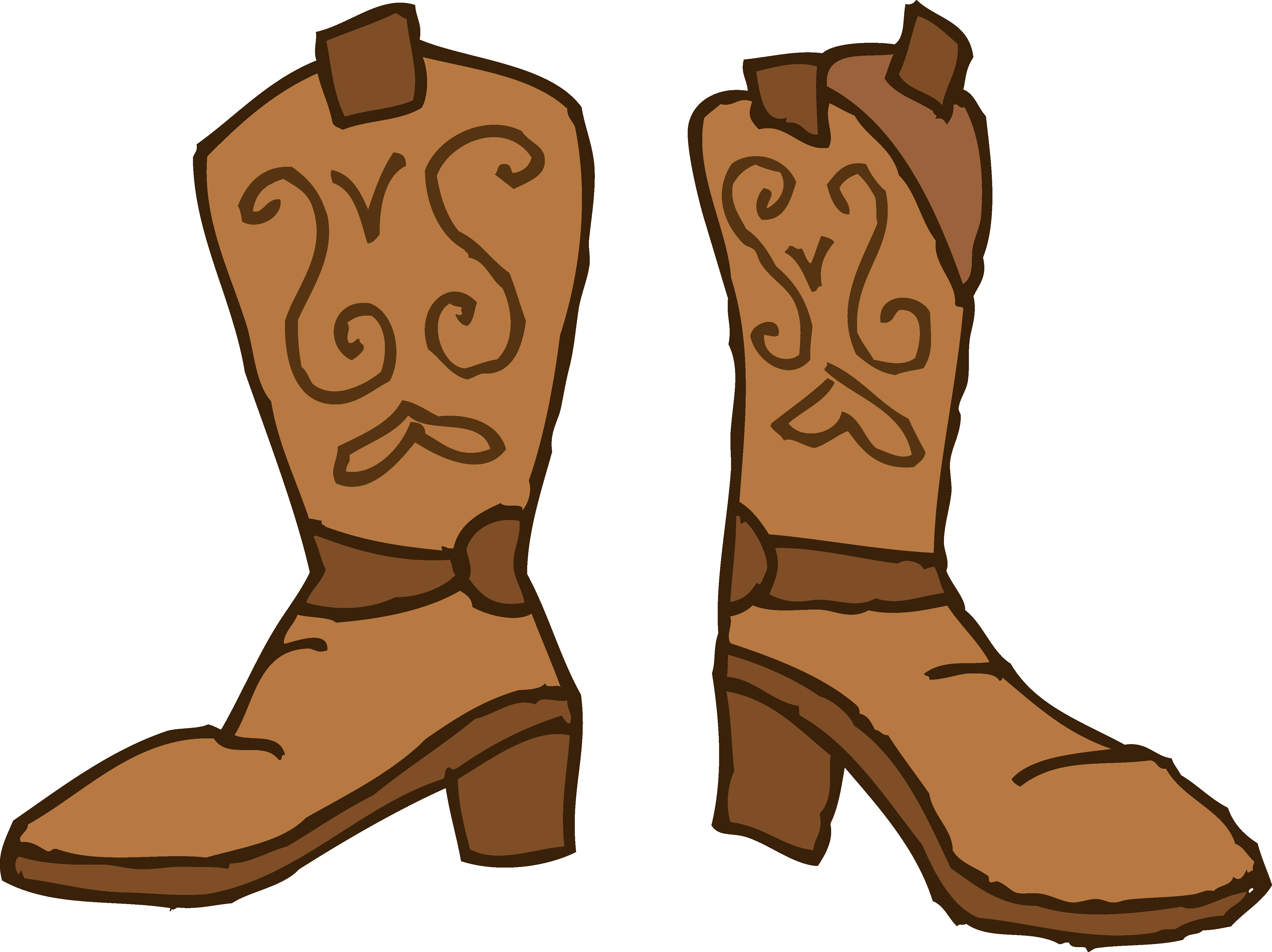 Western Boot Clipart.