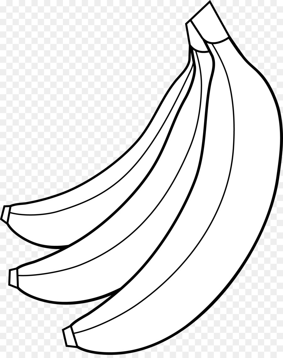 Banana Clipart Black And White png download.