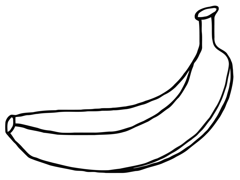 Banana Black And White.