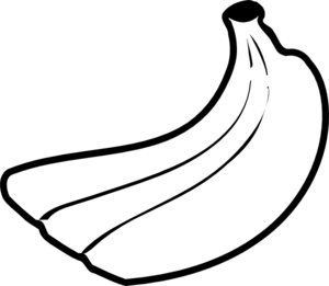 Banana Clipart Black And White.