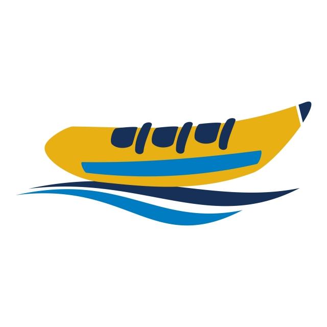 Banana Boat Logo Design Template Vector, Banana, Beach, Blue PNG and.