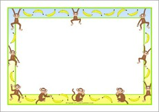Free Monkey Border Cliparts, Download Free Clip Art, Free.