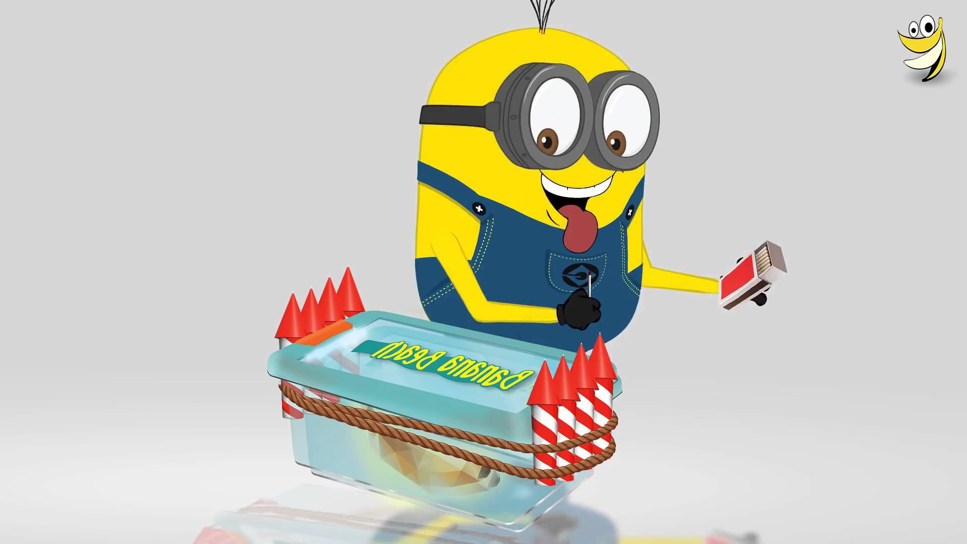 Minions Banana Box ~ Funny Cartoon Minions Mini Movies (HD).