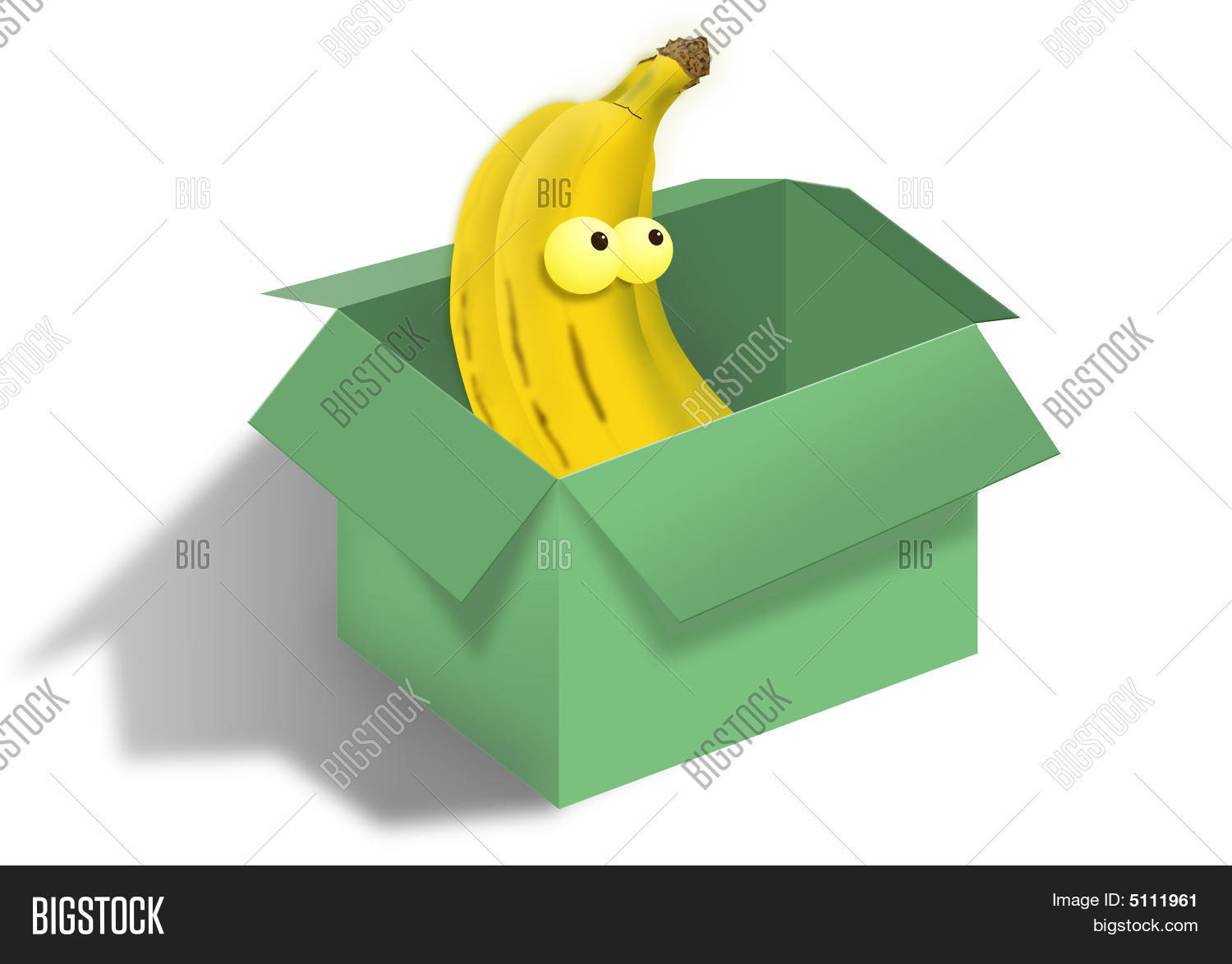 Banana In The Box Stock Photo & Stock Images.