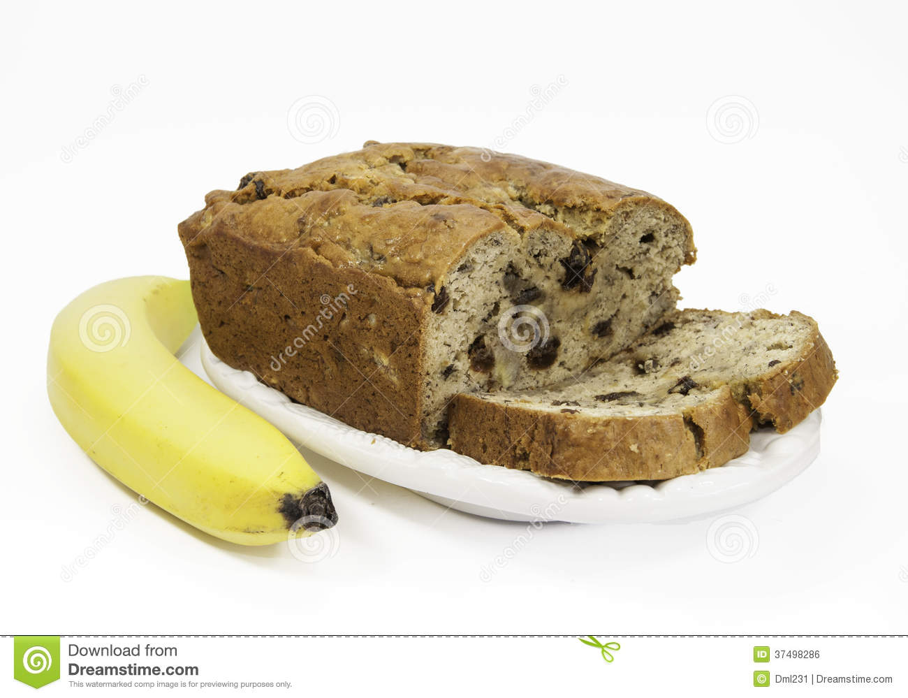 Banana Bread And Banana Royalty Free Stock Image.