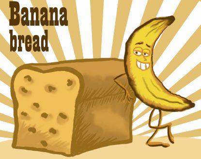Clip Art: Banana Bread.