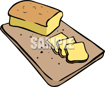 Clip Art Picture of a Loaf of Bread.