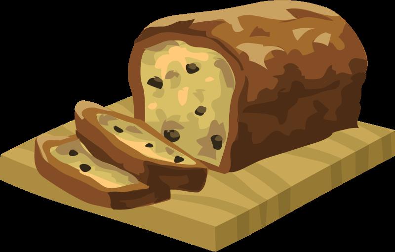 Pumpkin bread clipart.