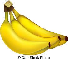 Banana bananas bunch tropical fruit fruits vector Clip Art and.
