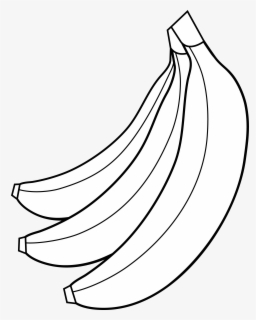 Free Banana Black And White Clip Art with No Background.