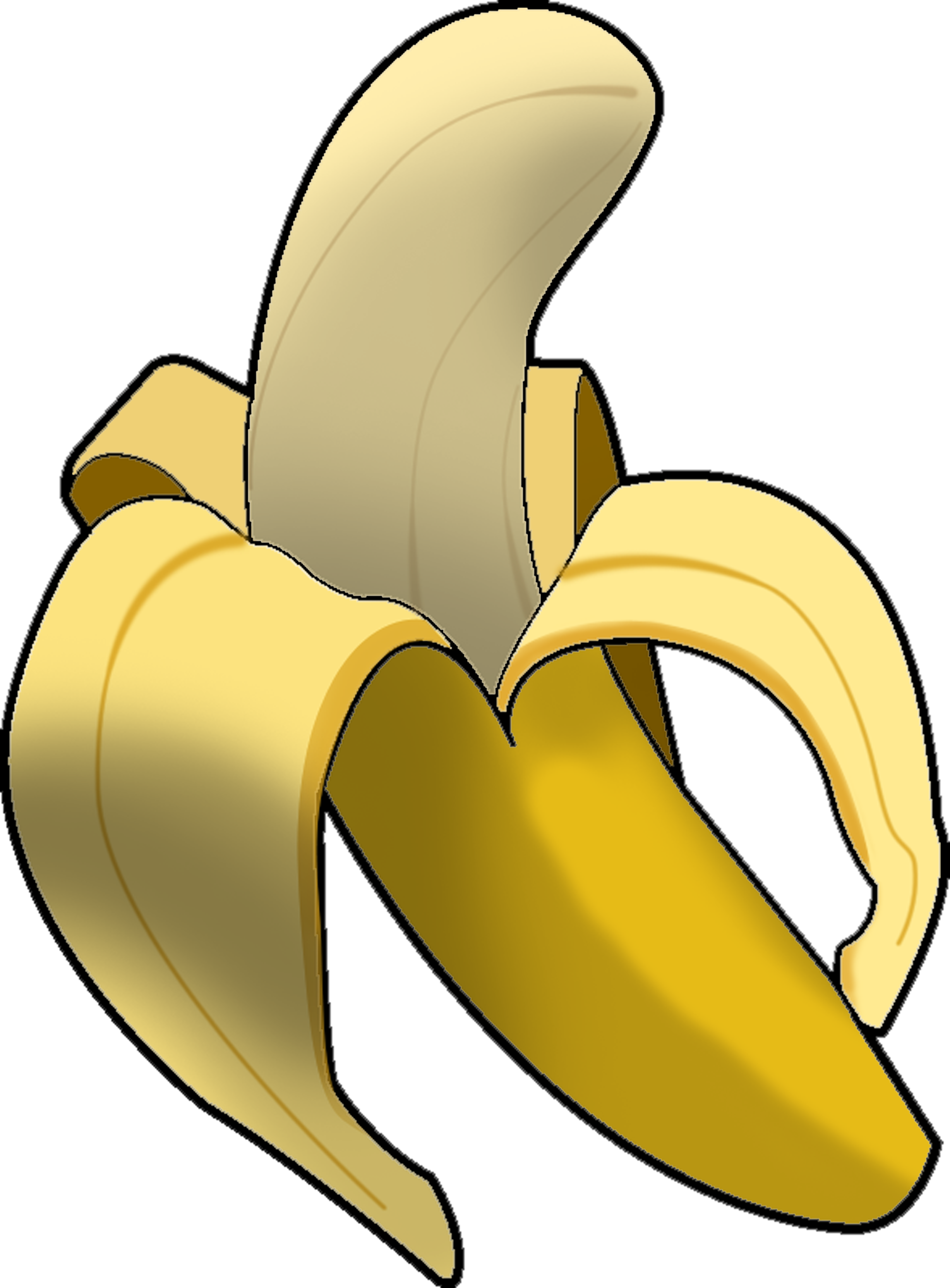 Banana clip art Free vector in Open office drawing.