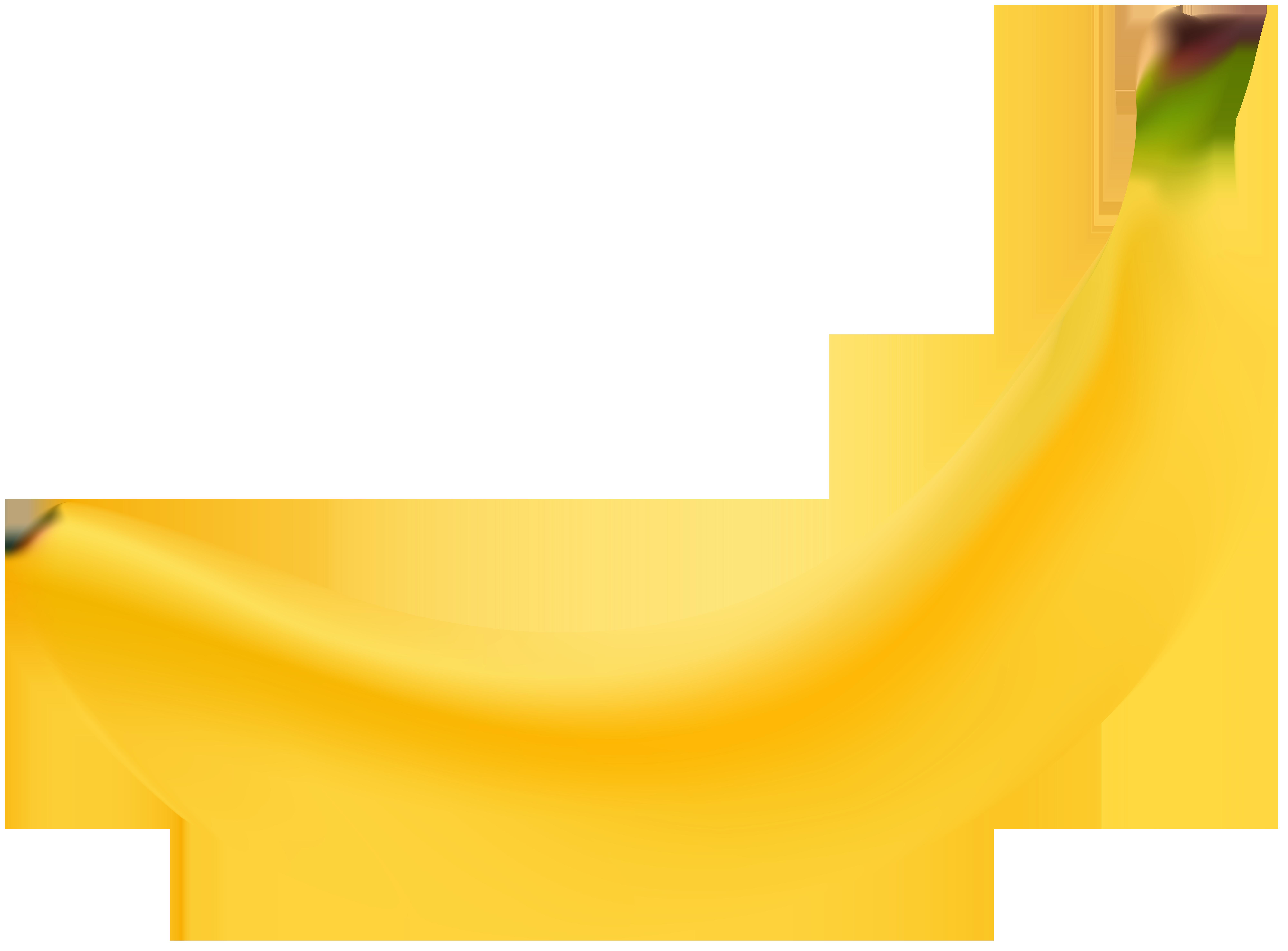 Banana Transparent Clip Art Image.