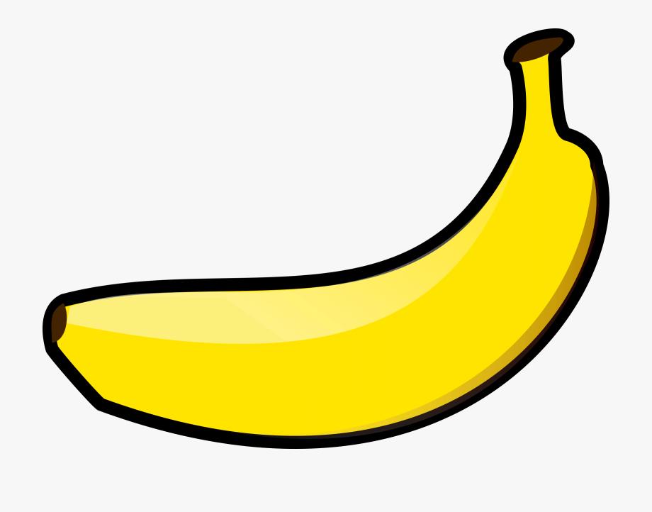 Banana Clipart Yellow Object.