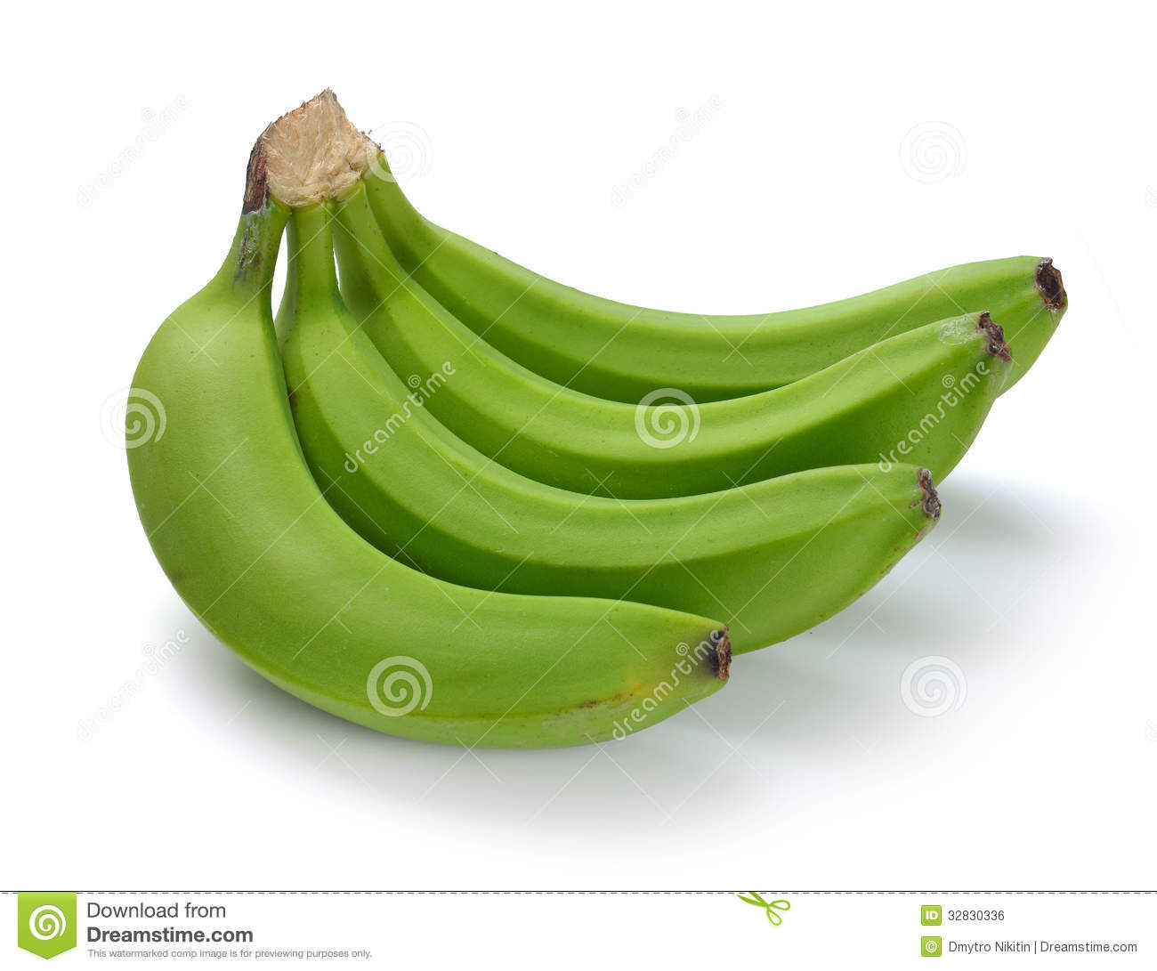Green Banana Bundle Royalty Free Stock Image.