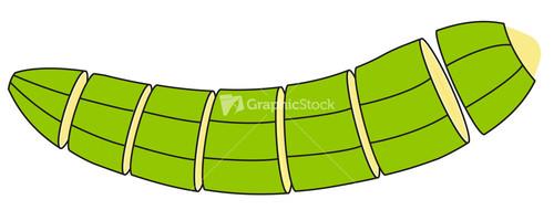 Banana green clipart #1