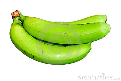 Green Bananas Royalty Free Stock Photo.