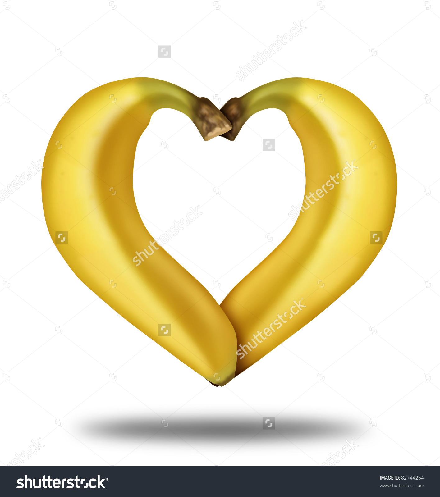 Healthy Food Symbol Represented By Bananas Stock Illustration.