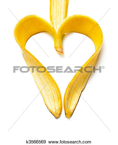 Stock Photograph of banana heart k3566569.