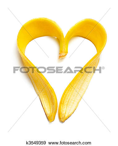 Stock Photograph of banana heart k3549359.