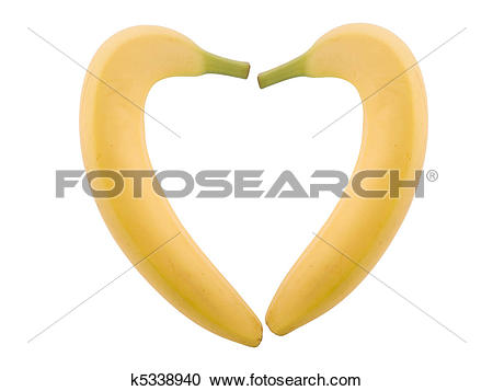 Stock Photography of banana heart k5338940.
