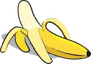 banana clip art.