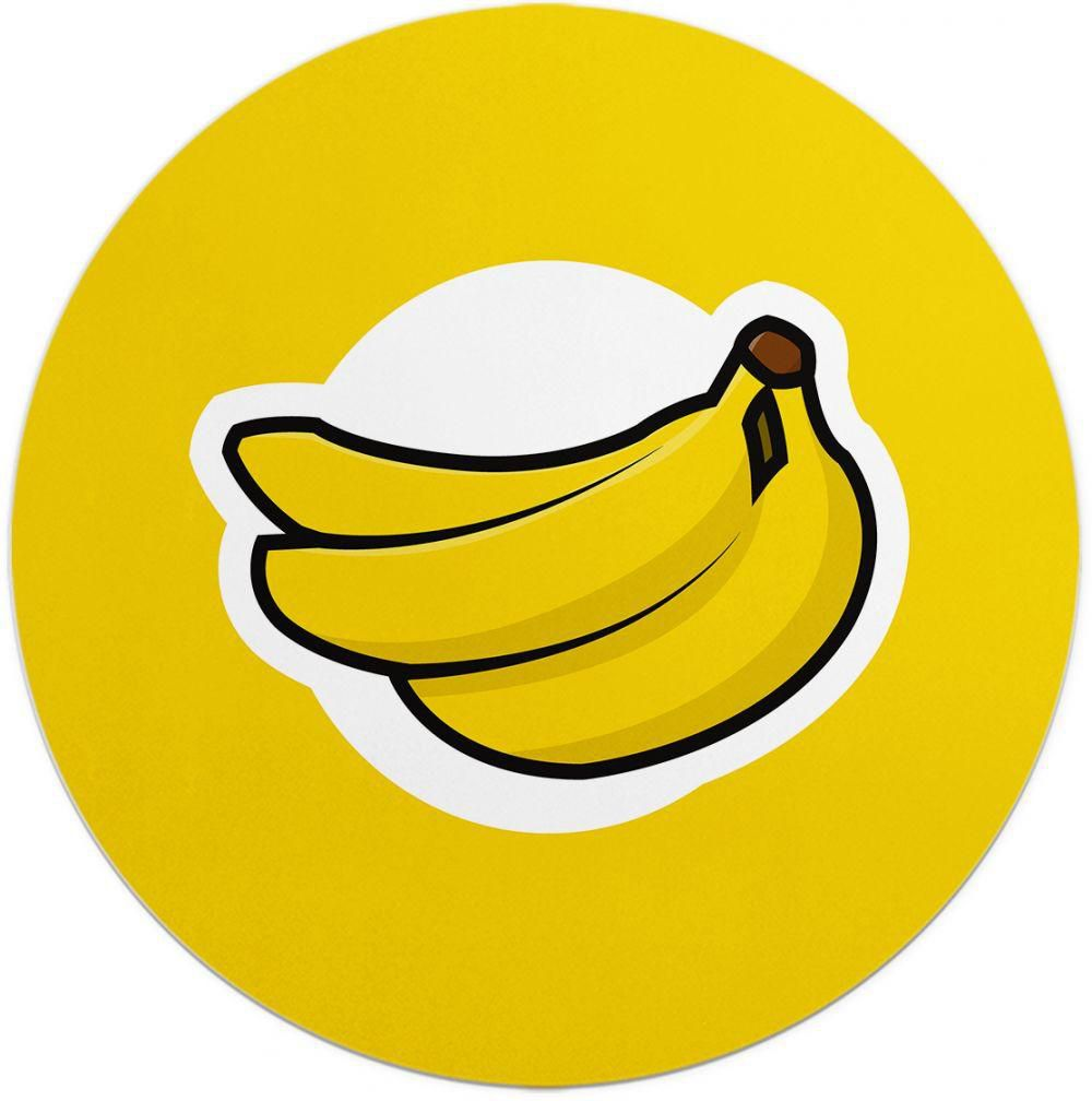 Loud Universe Banana Logo Banana Round Flexible Mouse Pad.