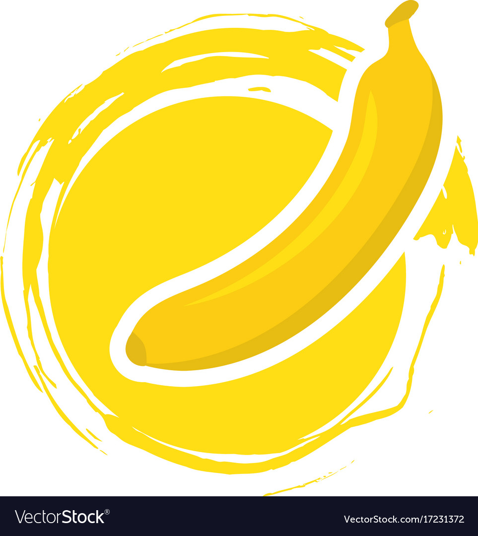 Banana logo template icon design.