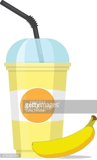 Banana Smoothie premium clipart.