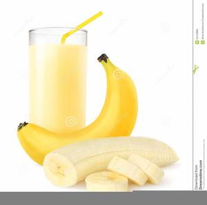 Banana Milkshake Clipart.