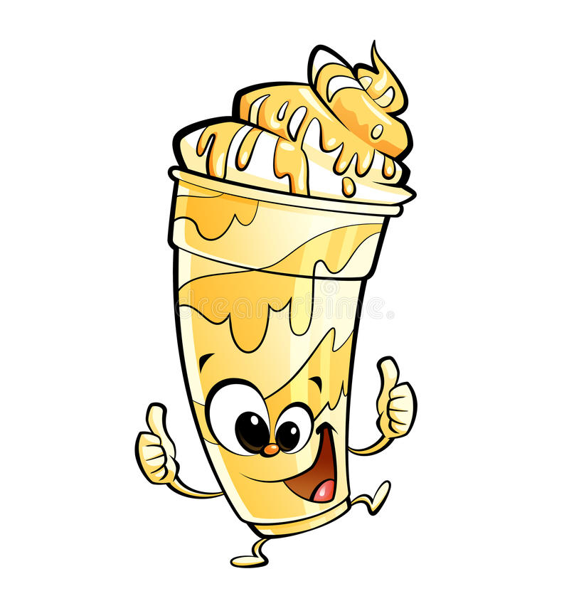 Banana Milkshake Stock Illustrations.