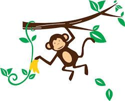 Image result for monkey clipart black and white.
