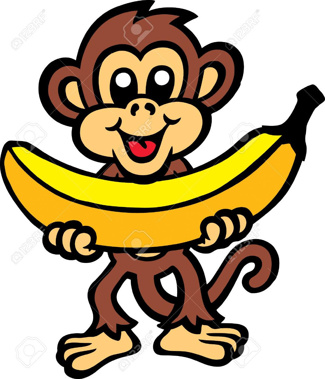 Monkey Banana Clipart.