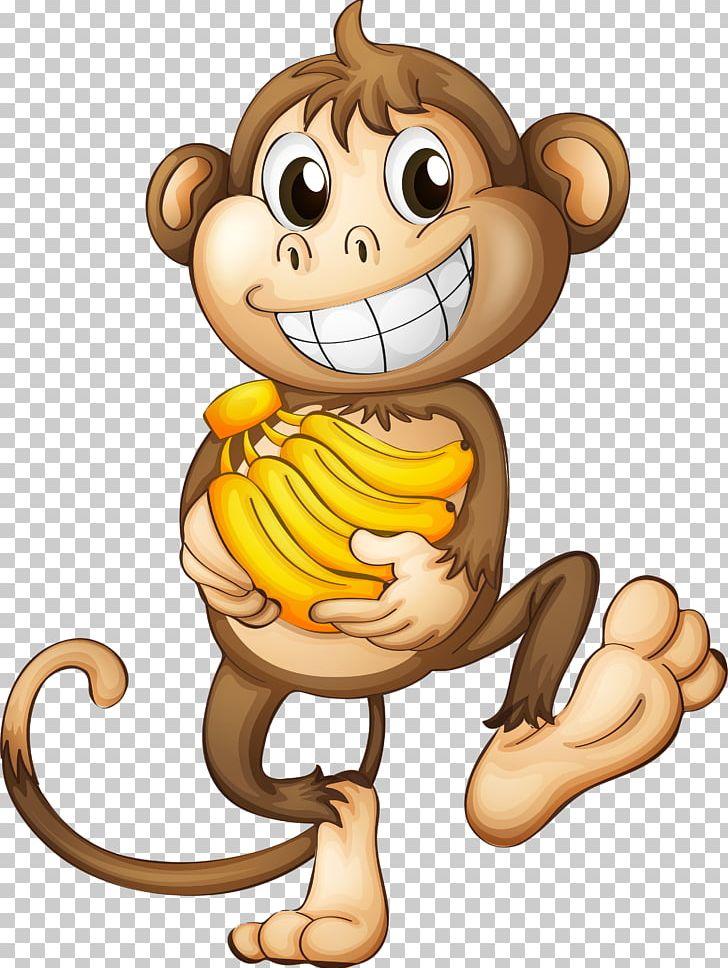 Monkey Banana PNG, Clipart, Animals, Art, Big Cats.