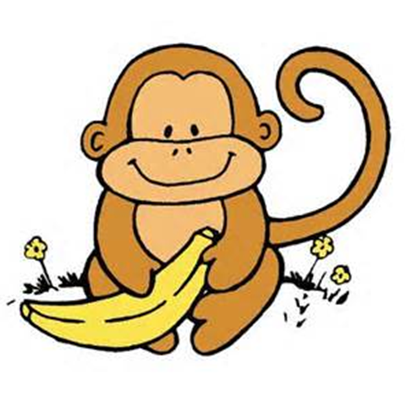 Cute Monkey ClipArt ~ Monkey with a Banana.
