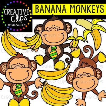 Banana Monkeys {Creative Clips Clipart}.