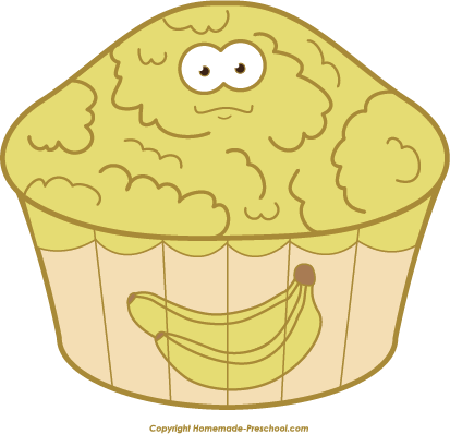 Gallery For > Clipart of Banana Nut Muffins.