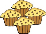 Pan of Muffins Clip Art.