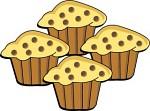 Pan of Muffins Clip Art.