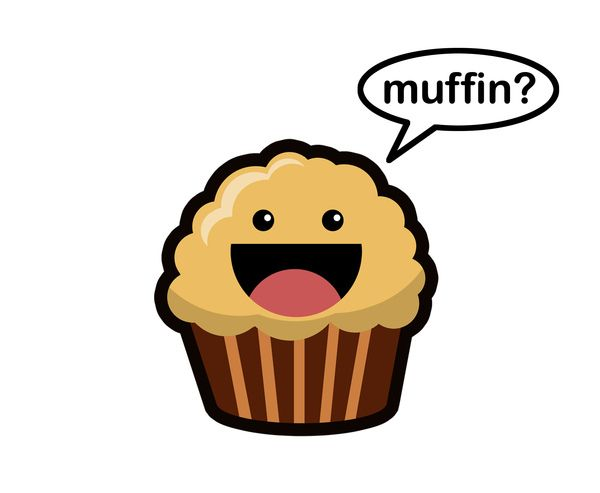 Banana muffin clipart.