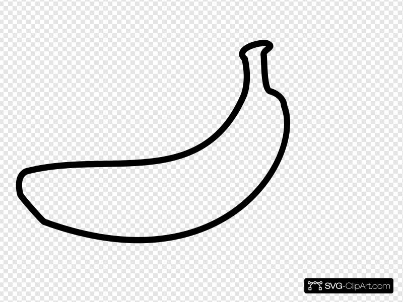 Banana Outline Clip art, Icon and SVG.