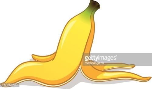 Banana Peel premium clipart.
