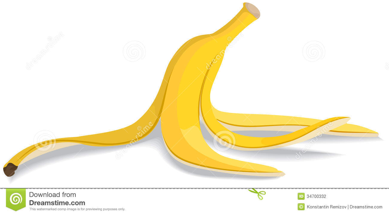 Banana Peel Clipart.