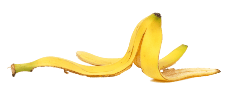 Banana Peel End Up transparent PNG.