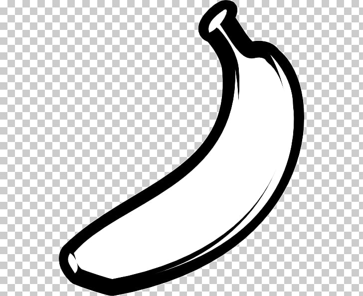 Muffin Banana Black , Banana Outline s PNG clipart.