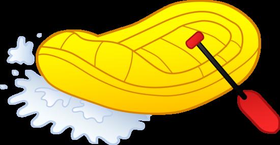 River Rafting Illustration.