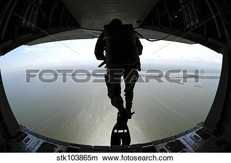 Stock Photo of Pararescuemen train on the Banana River near.