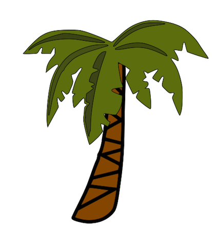Jungle Trees Clipart.